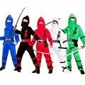 Детский костюм ниндзя Мощность ниндзя ролевую вечеринку для маленьких мальчиков, детская одежда для Хэллоуина, воина ниндзя карнавальный к...