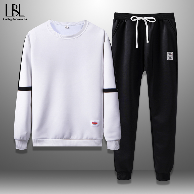 Men Tracksuits Spring 2020 Casual Mens Set Outwear Sweatshirts Sweartpants Two Piece Set Male Breathable Sweat Suits Man Fashion