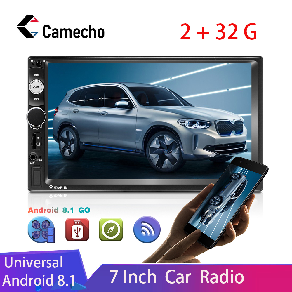 Camecho Android 8.1 2Din Car Radio 7'' HD 1080P Car Stereo Radio Universal GPS Bluetooth WIFI FM Auto Radio Suppport Rear Camera image