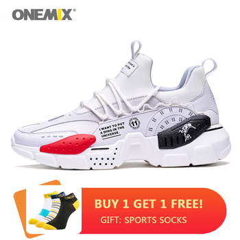 ONEMIX Men Women Running Shoes Sneakers Cushioning Breathable Mesh Sports Walking Gym Jogging Fitness Casual Shoes li ning men s running shoes cushioning breathable lining light weight sneakers sports shoes li ning arbm031