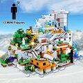 С 13 мини-фигурами, строительные блоки, кирпичи, горная пещера, My World, Обучающие игрушки, рождественские подарки на день рождения