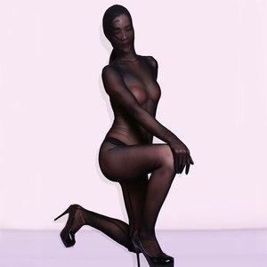 Image 3 - MEISE קוספליי Mesh לראות דרך מלא גוף פתוח מפשעת בגד גוף מלא כיסוי גוף שקופים סקסי גרביונים ארוטי הלבשה תחתונה F56