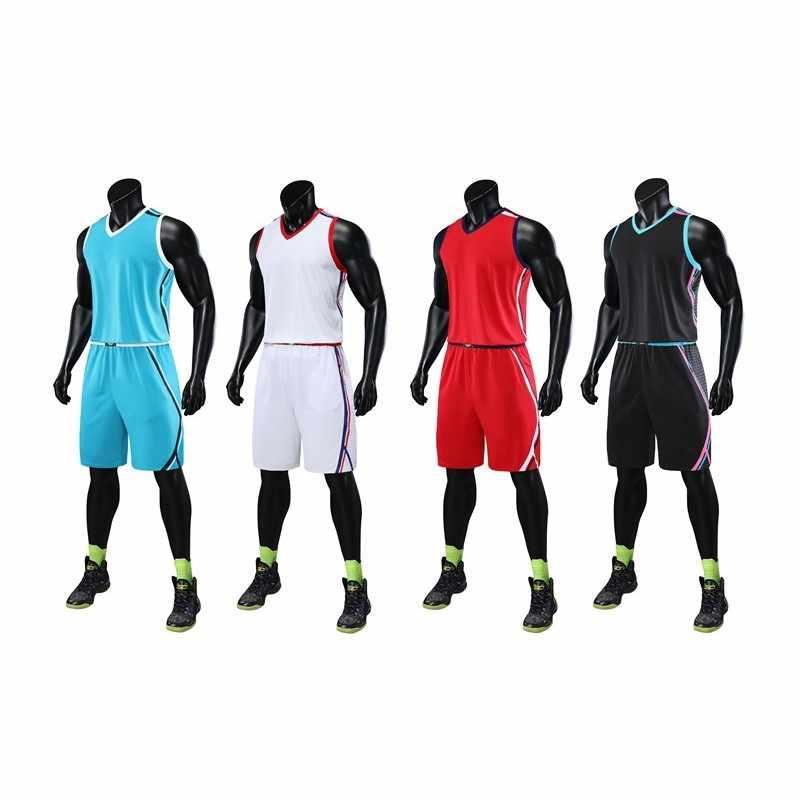 HOWE AO  Men's Basketball Jerseys Suit  College Men's Basketball Uniforms Sport Shorts Set Cloth Breathable Custom Print