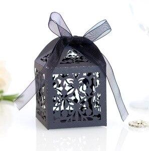 Кружевные Полые коробки для конфет из плюща, полые высеченные коробки для конфет, свадебные подарочные коробки, коробки для шоколада