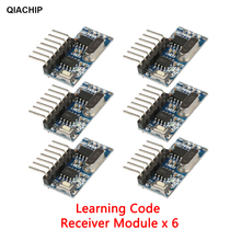 QIACHIP 6pcs 433Mhz 4CH RF Learning Code 1527 Decoder Receiver 4 Button Remote Control Switch For Arduino Uno Module Smart Home