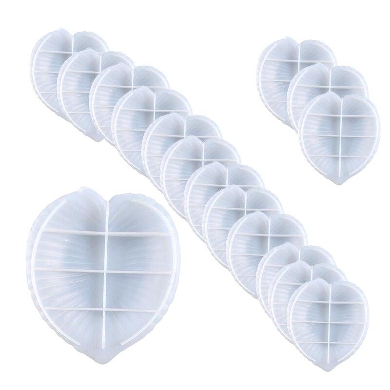 16Pcs Leaf Disc Fruit Snack Storage Silicone Diy Crystal Glue Mold