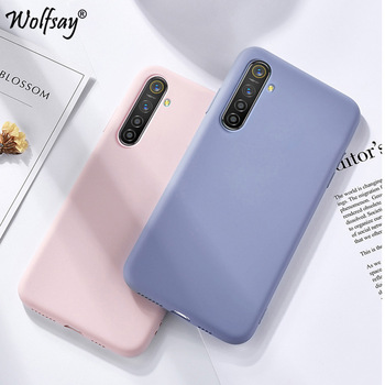 Candy TPU Case For Oppo Realme C3 Solid Color Liquid Case Carbon Fibre Case For Oppo Realme X2 Cover Realme 6 5i X50 X2 XT 730G