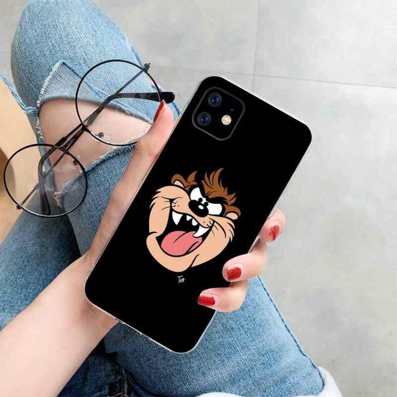 CUTEWANAN Bugs Bunny Looney Tunes Nero Soft Shell Cassa Del Telefono Capa per iPhone 11 pro XS MAX 8 7 6 6S Plus X 5S SE 2020 XR copertura