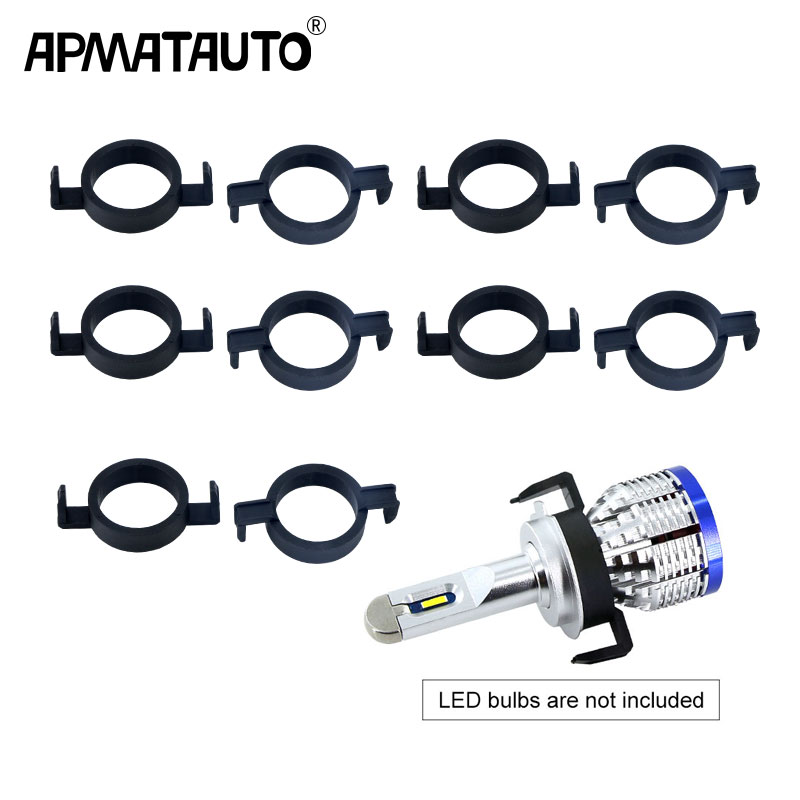 10pcs <font><b>H7</b></font> <font><b>LED</b></font> Clip Retainer Adapter Holder Headlight Bulb For Ford Mondeo For <font><b>Peugeot</b></font> 508 <font><b>2008</b></font> 3008 For Citroen image