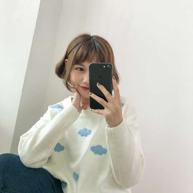 Ailegogo New 2020 Fall Winter Women Sweaters Knitted Stylish Pullovers Minimalist Loose Casual Wild Jumpers SW201 5