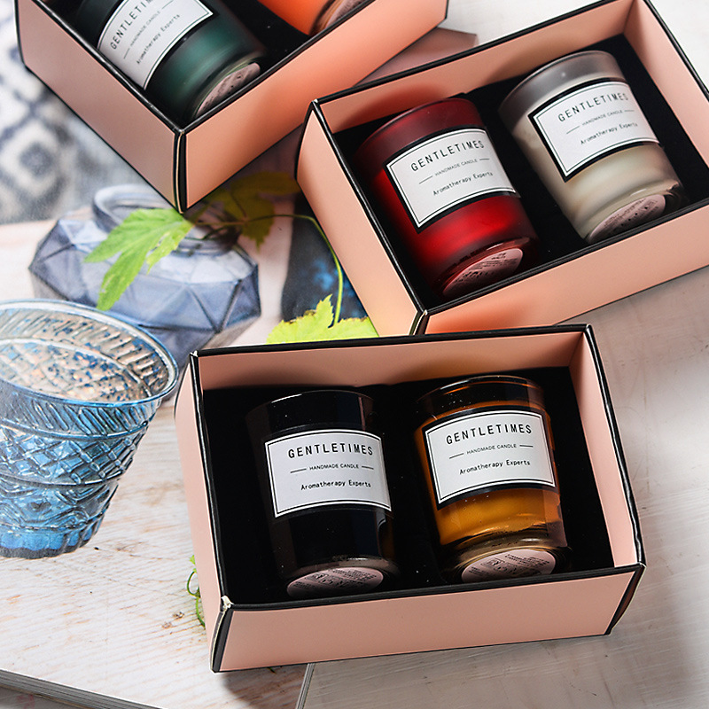 European Romantic Scented Candle Creative Christmas Soy Wax Decoration Wedding Gift Essential Oil Candle Gift Box