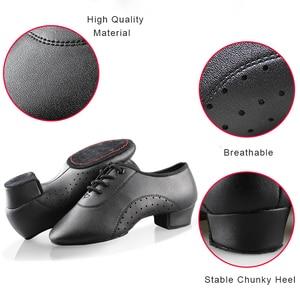 Image 2 - Erkek erkek dans ayakkabıları siyah düşük topuklu balo salonu dans ayakkabıları Tango Salsa Rumba Modern latin ayakkabı Boys çocuklar için
