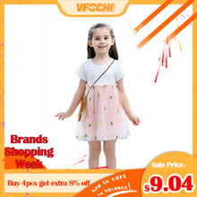VFOCHI New Girl Princess Dresses Summer Cute Girls Clothes Lace Baby Kids Dresses for Girl 3-12Y Ball Gown Girl Party Dresses