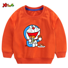 Little Girls Sweatshirts 2019 Autumn Toddler Boy Size 2t Pullover Doraemon Animals Printed  Hoodie Baby Kids 3T 4t