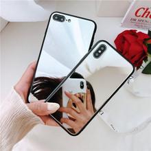 Lustrzany futerał na telefon iPhone 12 11 Pro Max 8 7 PLUS 6s czarny futerał ochronny na iPhone XS MAX XR luksusowy pokrowiec na tył tanie tanio Magtim CN (pochodzenie) Aneks Skrzynki mirror case Apple iphone ów Iphone 6 Iphone 6 plus IPHONE 6S Iphone 6 s plus IPhone 7