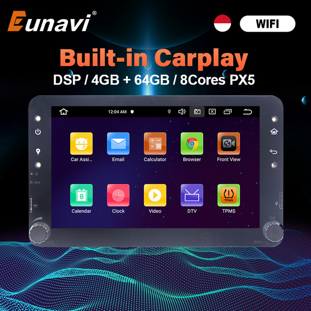Eunavi Android GPS para coche Multimedia para Alfa Romeo 159 Brera 159 Sportwagon Auto Radio Audio estéreo TDA7851 wifi
