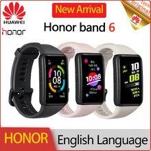 2020 HUAWEI Honor Band 6 AMOLED écran tactile haut de gamme intelligent Bluetooth Bracelet Fitness Tracker bracelets femmes sang oxygène rose