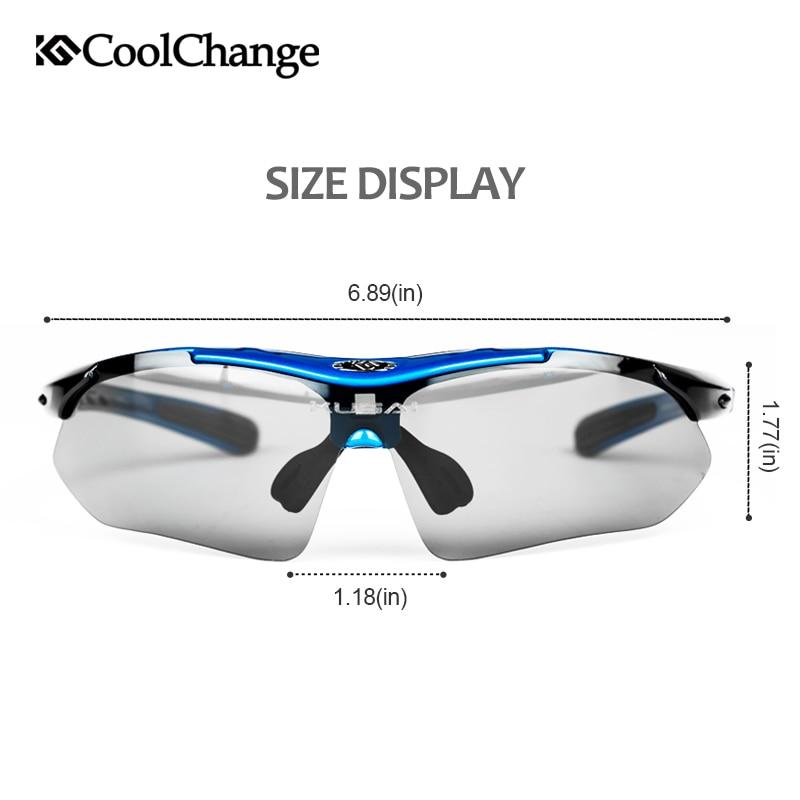 Купить с кэшбэком CoolChange Professional Polarized Cycling Glasses Bike Goggles Outdoor Sports Bicycle Sunglasses With 5 Lens Myopia Frame