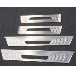 Image 2 - Para mercedes benz v classe metris viano metris w447 2015 2019 porta do carro sleeper vestir passo proteção capa guarnição de aço inoxidável
