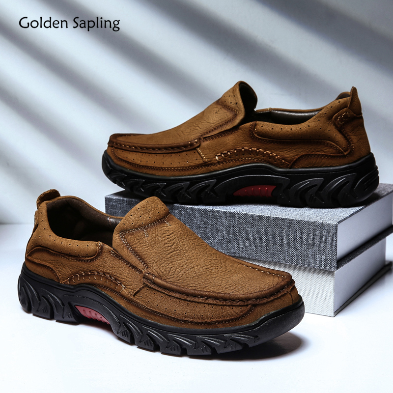 Tooling Trekking-Shoes Tactical Outdoors Genuine-Leather Soft Retro Rubber Men Golden-Sapling