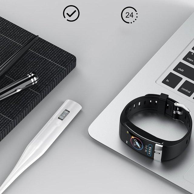 Фото e66 с цветным смарт экраном браслет экг + ppg тест браслет мониторинг цена