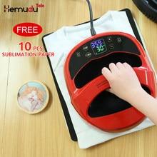 Mini portátil máquina da imprensa de calor sublimação transferência digital máquina impressão a3/a4 para t-shirts transferência e engomar casa diy