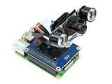 Chapeau à inclinaison panoramique Waveshare 2 DOF pour la détection dintensité lumineuse framboise Pi Interface I2C PCA9685 capteur de lumière à puce PWM TSL2581