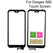 5.9'' Touch Screen For Doogee S68 Pro Touch Panel Sensor Glass Lens Repair Parts  Phone Mobile Tools 3M Glue new for sony vaio pro 13 svp132a svp132a1cl touch screen glass repairing parts free shipping