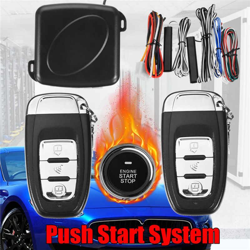 ホット販売 2018 新到着 9 個車 SUV キーレスエントリーエンジン始動警報システム、プッシュボタンリモートスターター停止自動