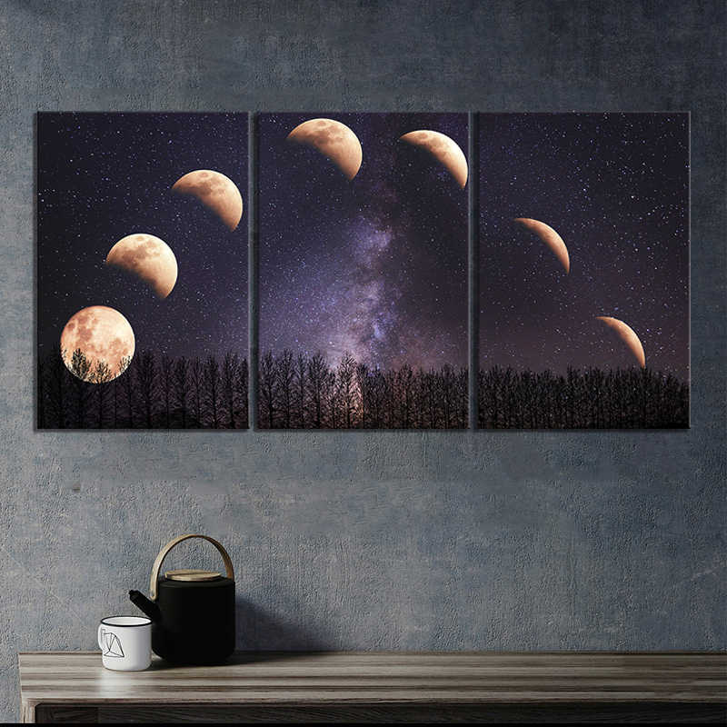 HD Landscape Moon Digital Art Picture Decorative Paintings for Wall Creative Birthday Gifts