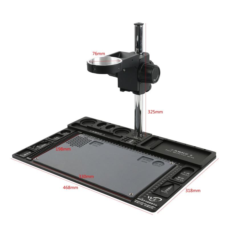 Big Multifunction Aluminum Alloy Stereo Microscope Adjustable Boom Table Working Stand Holder + Multi-axis Adjustable Metal Arm
