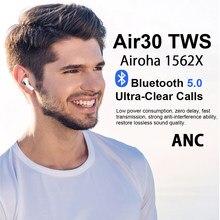 Air30 tws airoha 1562x chip sem fio bluetooth fone de ouvido com caso carregamento super bass verdadeiro sensor luz pk i90000 i99999
