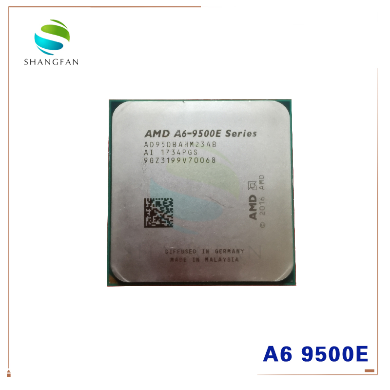 AMD A6-Series A6-9500 A6 9500E  3.5 GHz Dual-Core CPU 35W Processor AD9500AHM23AB AD950BAHM23AB Socket AM4