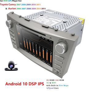 """Image 5 - 1024*600 2Din dört çekirdekli 8 """"Android 10 araç dvd oynatıcı GPS navigasyon Toyota Camry 2007 2008 2009 2010 2011 kafa ünitesi araba Stereo radyo"""