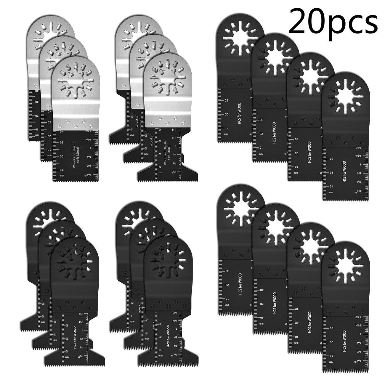 20 шт. Высокоуглеродистая сталь, вибрационная пила, многофункциональная биметаллическая Точная колеблющаяся пила, многофункциональный инс...