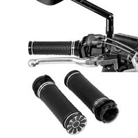 Motorcycle 1 CNC Non Slip Handlebar Hand Grips For Harley Touring CVO Road King Glide Sportster XL 883 1200 Softail
