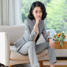Fashion women Business Pant Suits Uniform Formal Single buckle Jacket and Pant B
