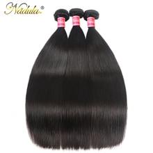Mèches lisses péruviennes naturelles Nadula, cheveux Remy, 100% cheveux humains, Double trame, en lot de 3 pièces