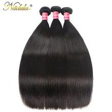 Nadulaヘア編む 3 本毛バンドルマシンダブル横糸 100% 人間のremy毛束