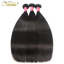 Nadula Hair Peruvian Straight Hair Weaves 3pcs Hair Bundles Machine Double Weft 100% Human Remy Hair Bundles