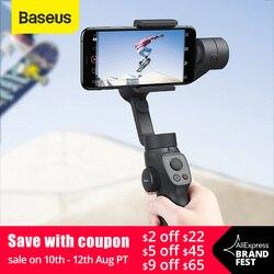 Baseus селфи-Палка с Bluetooth 3-осевой Карманный шарнирный стабилизатор для камеры GoPro на открытом воздухе держатель w/фокус Pull & Zoom для iPhone для экшн-...