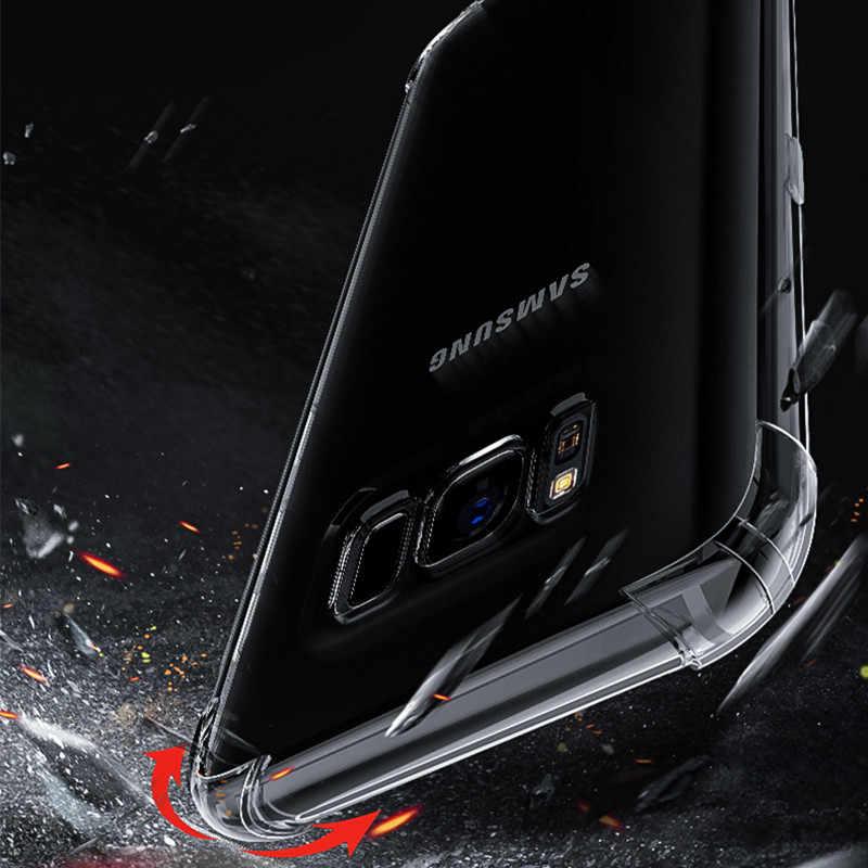 Mềm TPU Cho Samsung Galaxy Note 10 Plus 9 8 S7 S8 S9 S10 A6 A7 A8 Plus 2018 j4 J6 J8 J7 A9 Viền Chống Sốc Dẻo Silicone Ốp Lưng