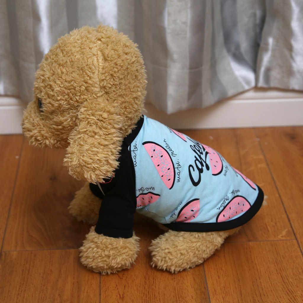 القط تي شيرت للكلاب القطط الملابس سترة الحيوانات الأليفة الكلب قميص اللوحة القطبية جرو معطف الحيوانات الأليفة القط الملابس الدافئة معطف البلوز FW3