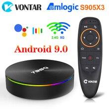 ТВ приставка T95Q, Android 9,0, 4 + 32/64 ГБ, 4 ядра, 2,4/5 ГГц, Wi Fi