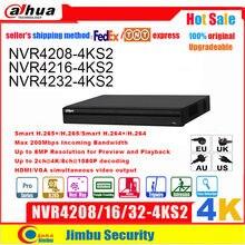 Dahua NVR 4k 8CH 16CH32CH NVR4208-4KS2 NVR4216-4KS2/L NVR4232-4KS2 H.265/H.264 fino a 8MP risoluzione per anteprima e riproduzione
