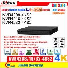 Dahua Nvr 4K 8CH 16CH32CH NVR4208 4KS2 NVR4216 4KS2 NVR4232 4KS2 H.265/H.264 Tot 8MP Resolutie Voor Voorbeeld En Afspelen