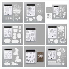Metall Schneiden Stirbt und Klar Briefmarken Schablone für Scrapbooking Album Dekoration Handwerk Gestanzte für Karte, Der Stempel und stirbt 2020