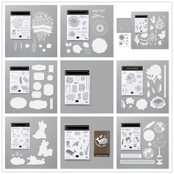 Metal Cutting Dies and Clear Stamps Stencil for Scrapbooking Album Decoration Craft Die Cut for Card Making Stamp and dies 2020