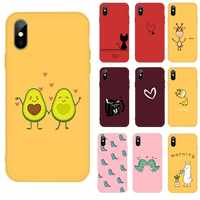 Cartoon lovely Animal Soft TPU Phone Case For iPhone 5 5S SE 6 6S Plus 7 7Plus 8 8Plus X XS XR 11 Pro Max Color Silicone Cover