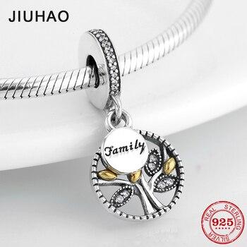 Colgantes de plata de ley 925 de alta calidad con cuentas de Arbol de la vida compatibles con la pulsera Pandora Original